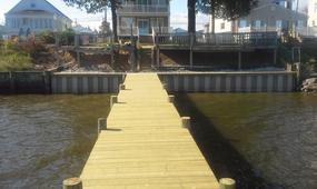 Bulkhead and pier after