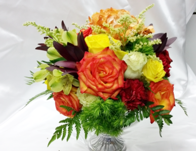 Orange and Yellow Wedding Party Centerpiece Autumn