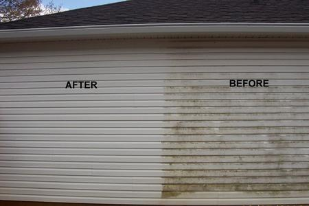 house wash siding cleaning before and after