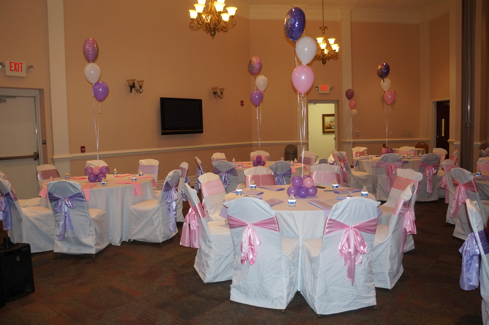 Table & Chair Party Rentals and Baby Shower Decorations in Blue ...