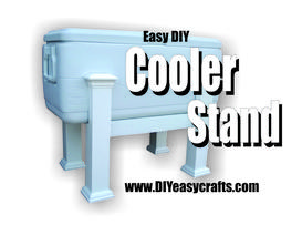 How to make a PVC Cooler Stand. Great for outdoor parties. www.DIYeasycrafts.com