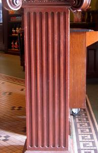 Custom Square wood fluted column