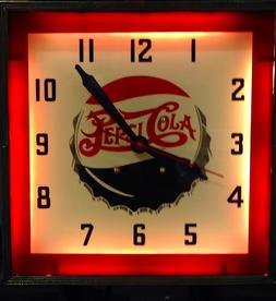 Pepsi Cola Antique Promotional Clock