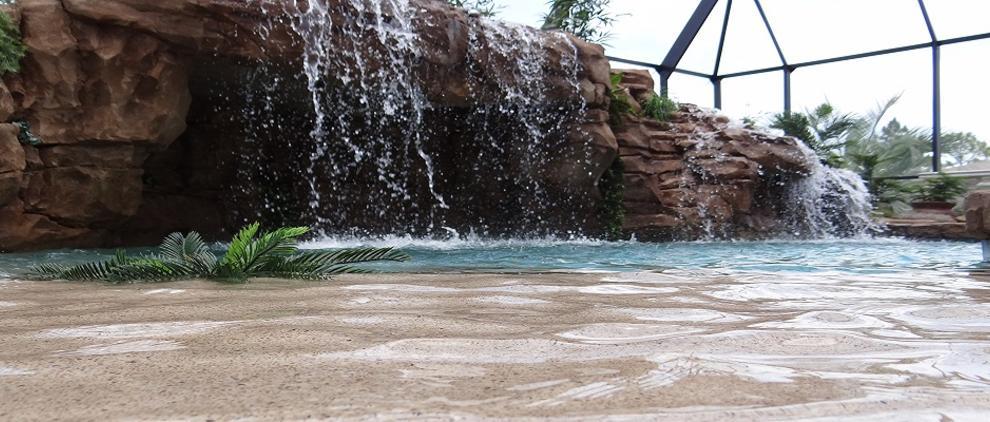 swimming pool waterfall designs custom rock aquarock pools llc. Interior Design Ideas. Home Design Ideas