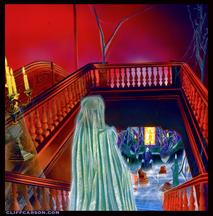 HOUSE OF DARK SHADOWS wedding scene at Lockwood-Mathews Mansion by CLIFF CARSON