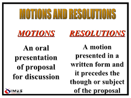 Resolutions & Motions