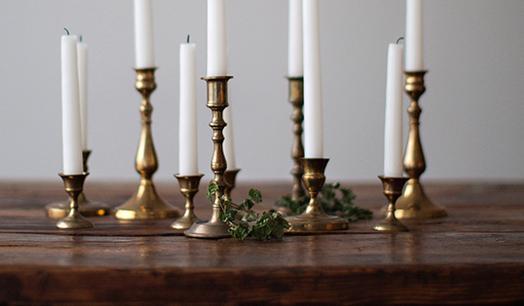 Brass Candlesticks vintage brass candlesticks decor rentals