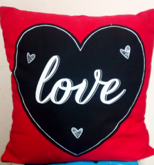 Love Valentine's Cushion | The Little Flower Shop London Florist
