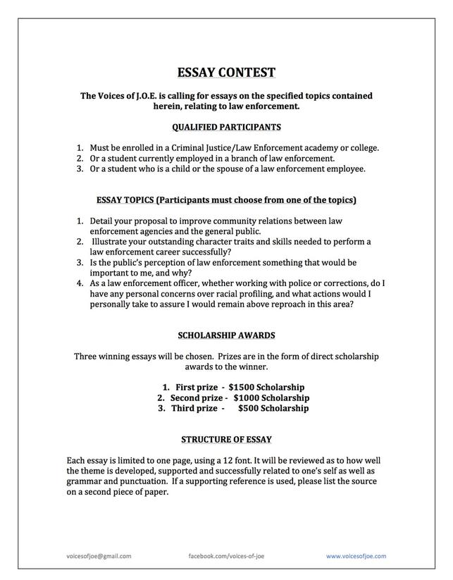 criminal justice essay topics