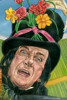 Robert Helpmann as The Child Catcher (acrylic and colored pencil on board) by CLIFF CARSON