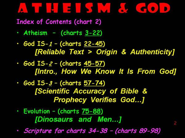 On God The Bible Footprints Of 14 Slides Evolution Dinosaurs Men And 10 Scripture Text For How We Got Chart