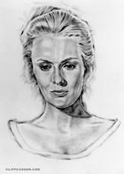 "Jean Seberg in PAINT YOUR WAGON 35"" X 45"" Illustration by CLIFF CARSON"