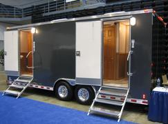 Luxury restroom trailer