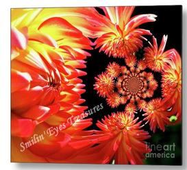 Dahlia Flower Abstract