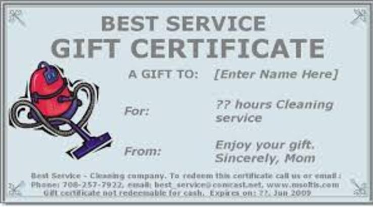 Give Home Cleaning Gift Certificate to your dear ones in Edinburg Mission McAllen TX | RGV Janitorial Services