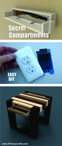 Easy DIY Secret Hidden Compartments. www.DIYeasycrafts.com