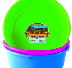 Feeder or water pans. Comes in multiple colors.