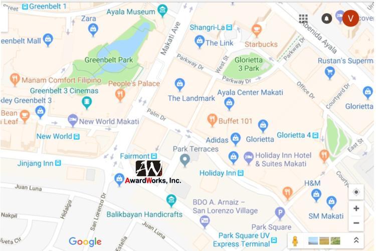 Awardworks Inc.Crystal,Gl,Resin,Acrylic,Metal Trophies ... on salcedo village makati map, san antonio tx zip code map, angeles city, marikina city, muntinlupa city, caloocan city, metro manila, mandaluyong city, quezon city, zamboanga city, cebu city, davao city, pasay city, san lorenzo village makati map, legaspi village makati map, taguig city, pasig city, san antonio city street map,