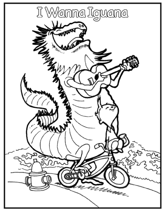 i wanna iguana coloring page 1 drag image to desktop and print on 85 x 11 paper - Iguana Coloring Page