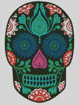 Cross Stitch Chart of Sugar Skull No 15