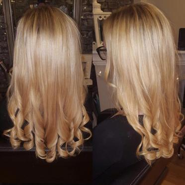 Long Blonde Curly Hair Extensions Precision Rayleigh Eastwood Leigh On Sea Essex