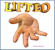LIFTED illustration by CLIFF CARSON