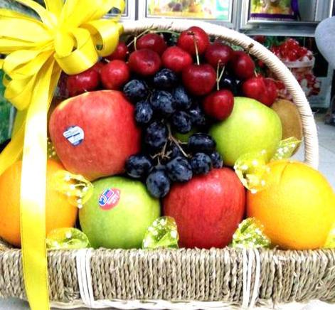 giỏ hoa quả, giỏ hoa quả sinh nhật đẹp, giỏ hoa quả nhập khẩu tại hà nội