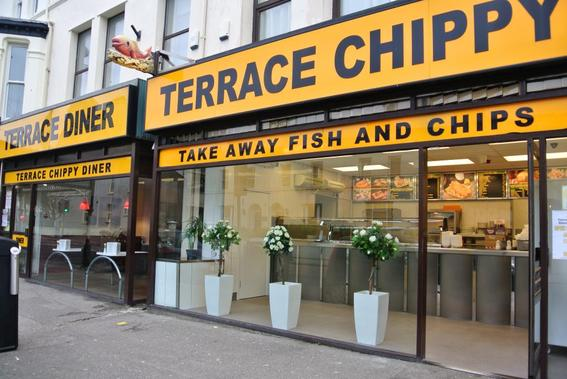 Traditional fish and chips isle of man terrace chippy for Terrace fish and chips
