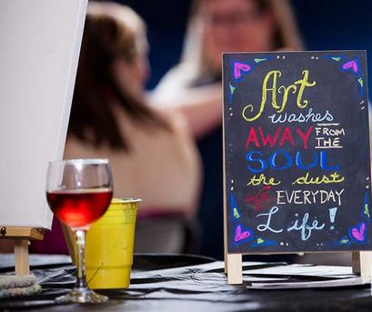 Paint And Wine Nite, Mobile Art Studio, Cypress, Spring, The Woodlands, Katy