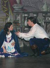 Belle (Jess Needs) and The Prince (Benedict Hurley)