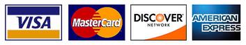 Methods of Payment Accepted: Visa, Mastercard, Discover, American Express