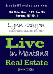 Live in Montana Real Estate Lynn Kenyon Office Augusta Craig Cascade Great Falls
