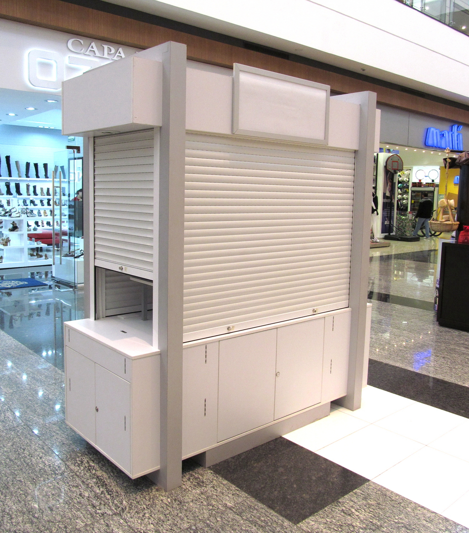 Kioscos e islas para centros comerciales plazas for Disenos de kioscos de madera