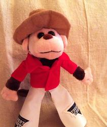 Whiplash the Cowboy Monkey toy
