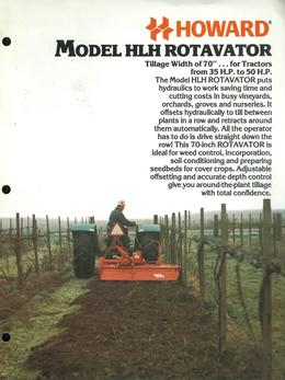 Howard Rotavator Model HLH Brochure