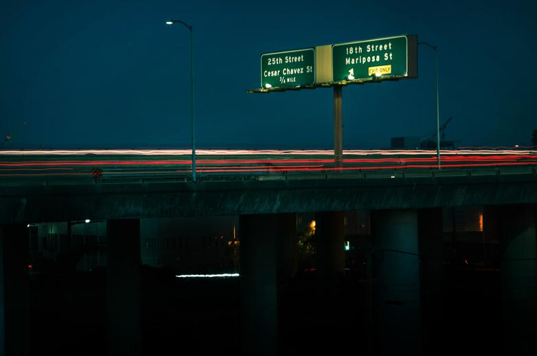 san francisco city freeway night photo
