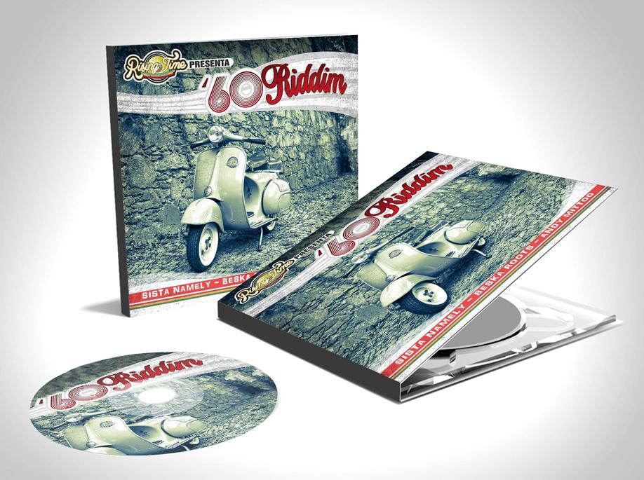 60 RIDDIM COMPILATION COVER COPERTINA CD RISING TIME GRAFICA PROJECT DESIGN DESIGN107