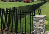 ornamental fence built by all american fence contractor and fence company