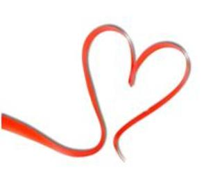 Logo of a red ribbon in shape of a heart