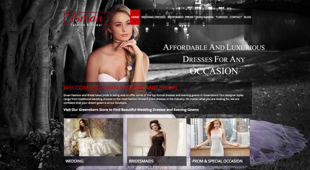 Eman Fashion & Bridal ~ Preferred Vendor Castle McCulloch