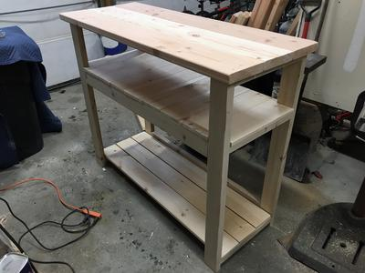 DIY inexpensive rustic TV stand or table. FREE step by step instructions. www.DIYeasycrafts.com