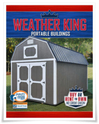 Transfer to Weather King Catalog of sheds, click and be transferred