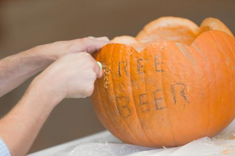 free beer pumpkin carving tech startup