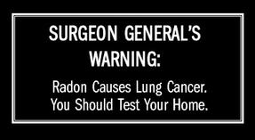 radon warnings
