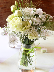 White Lisianthus and Carnation Flower Bouquet-white-bouquet-lisianthus-bouquet