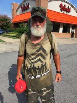 Colby's Army photo of a homeless veteran