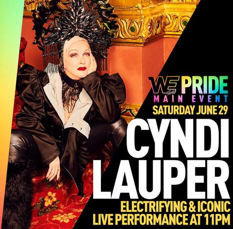 June 29, 2019 - New York, NY - WE PRIDE MAIN EVENT with Cyndi Lauper