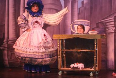 Mrs Potts (Claire Willavise) and Chip (Josie Ash)