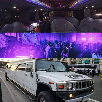 white Hummer Limo for Times Square New Years Eve day