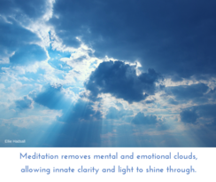 meditation removes clouds, emotional and mental clearing, ellie hadsall books, cosmic gathering